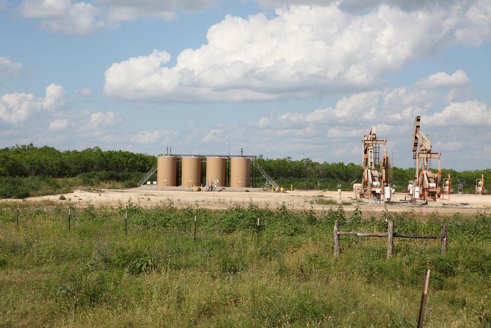 Det blir nå forbudt å forby fracking i Texas. Her fra Eagle Ford-feltet tidligere i vår.