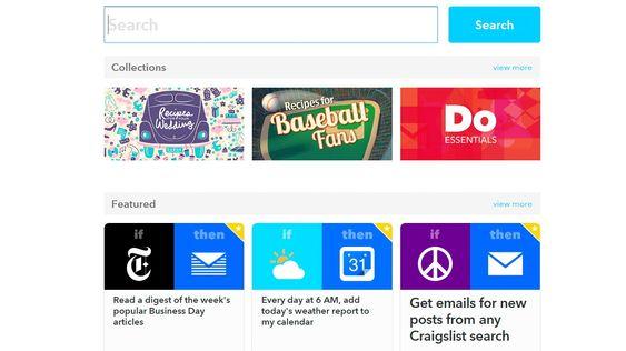 På nettsidene kan du administrere oppskriftene dine og finne nye.