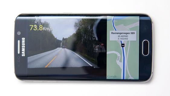 Autoguard har mange smarte funksjoner, inkludert mulighet til å vise kart og hastighet når du spiller av opptak.