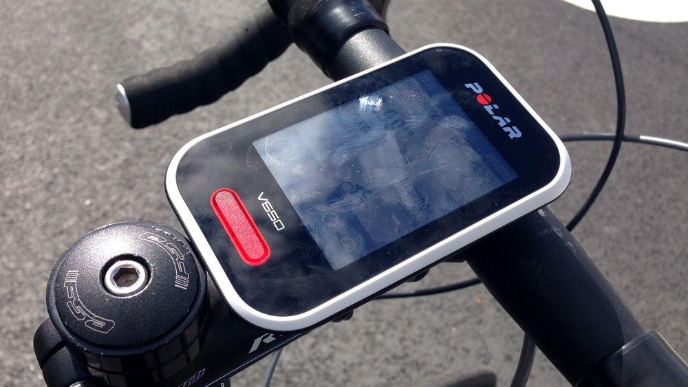 V650 er Polars første sykkelcomputer med GPS.
