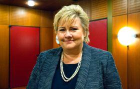 Statsminister Erna Solberg, Høyre.