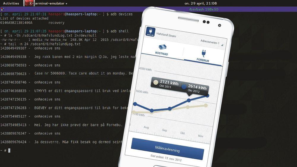 En bruker av Hafslund-appen oppdaget at den lagret samtlige sms-er på telefonen - i en loggfil som han fant tilfeldig i et forsøk på å redde data på minnekortet.