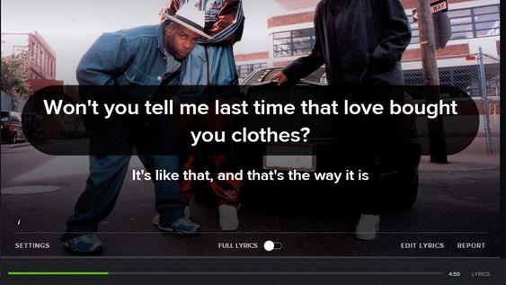 Du kan se tekster i Spotify på PC-en.