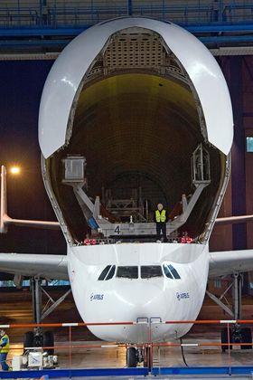 Lasterommet skal utvides med en meter i bredden på den kommende Beluga XL.