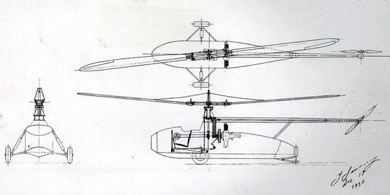 Igor Sikorsky fikk i 1935 innvilget patent på helikopter med én hovedrotor og en halerotor.VS-300 ble senere utviklet til det masseproduserte helikotperet R4/S-47.