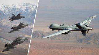 Dronene skal styres av piloter i andre fly
