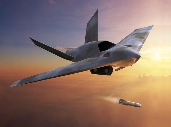 En tre år gammel illustrasjon av hvordan Lockheed Martin ser for seg et mulig kommende ubemannet kampfly.