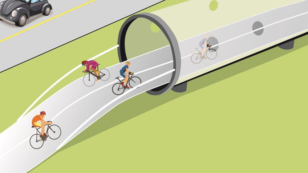 Miljøpartiet Alternativet i Danmark ønsker å utrede mulighetene for å bygge sykkelrør med medvind i København.