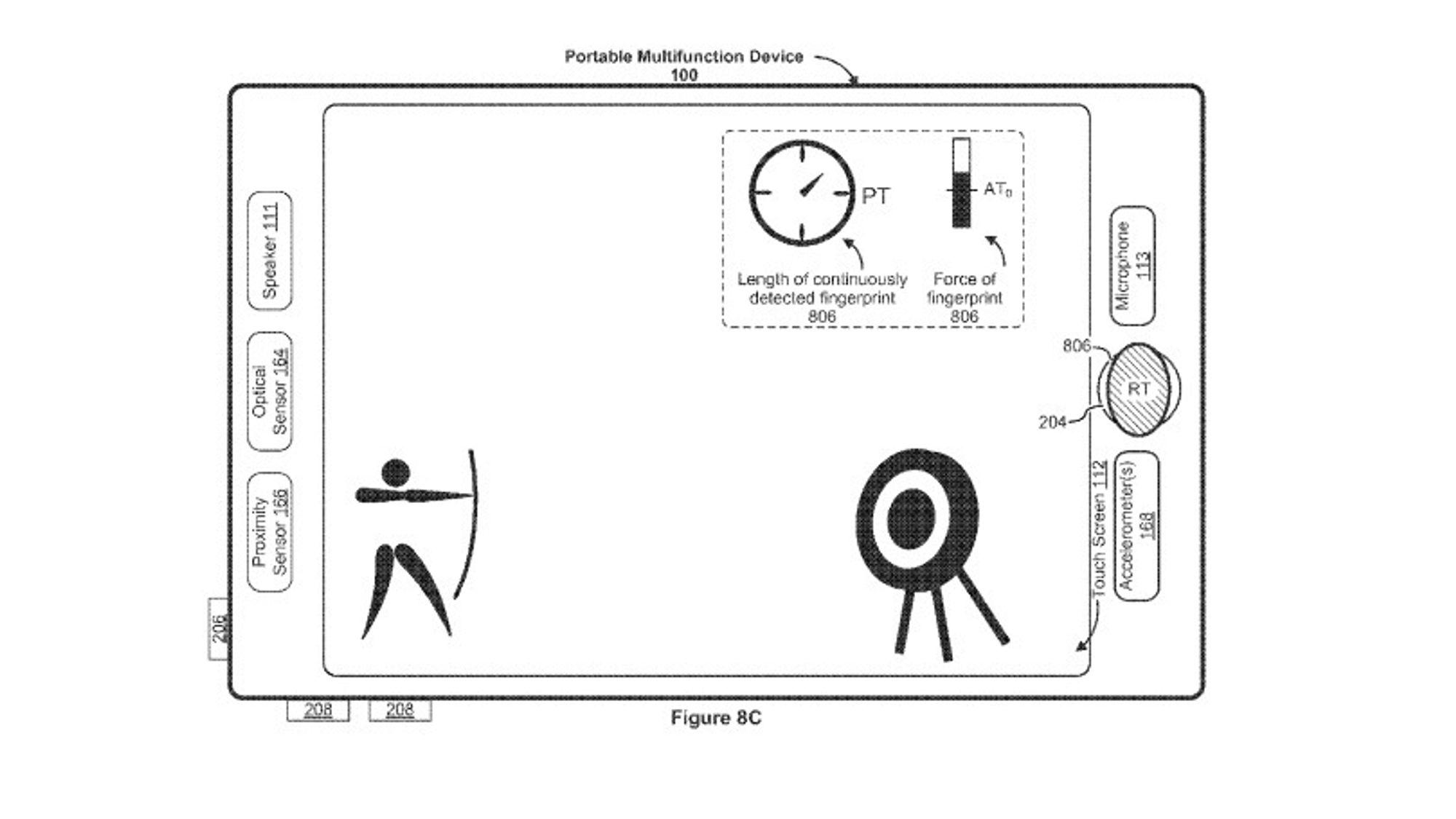 Apple ser for seg at fingeravtrykkleseren kan brukes til å styre spill. For eksempel kan du sikte ved å vri på fingeren, og skyte ved å trykke.