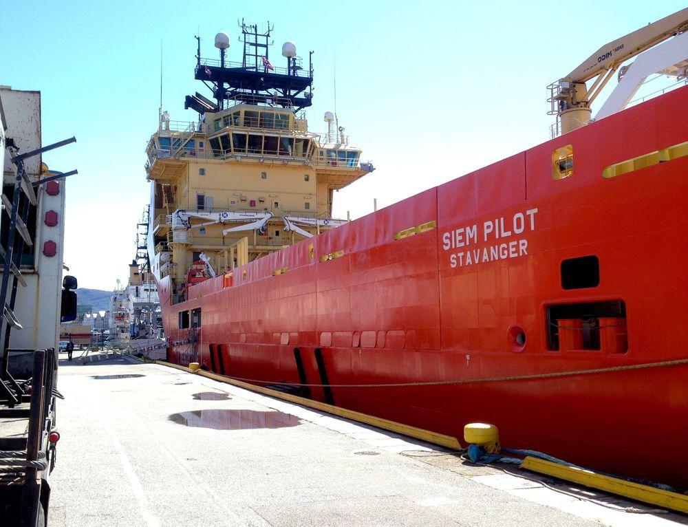 Norge sender supplyskipet Siem Pilot til innsatsen i Middelhavet. Skipet ble presentert av statsminister Erna Solberg i Bergen torsdag.