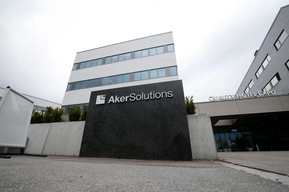 Pågrepet: Her, på Aker Solutions sitt hovedkontor på Fornebu, ble ingeniøren pågrepet mandag.