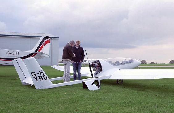 Hybridflyet som Universitetet i Cambridge har bygget er basert på et tjekkisk mikrofly av typen Song SSDR.