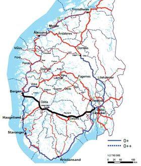 Statens Vegvesen foreslår at denne traseen blir ny hovedvei mellom Oslo og Bergen.