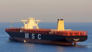 Dette er verdens største containerskip