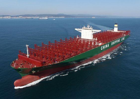 CSCL Globe fikk bare noen uker i 2014 æren av å være verdens største containerskip med 19.000 TEU kapasitet.