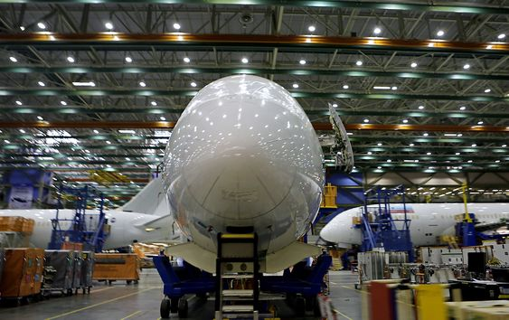 I 2014 ble det produsert 114 B787 Dreamliner her i Everett mot 65 eksemplarer året før.
