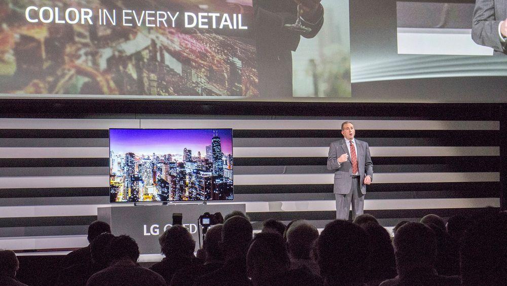 OLED,OLED, OLED: LG understreker med all tydelighet hvordan de leder kappløpet mot fremtidens skjermteknologi på CES i Las Vegas.
