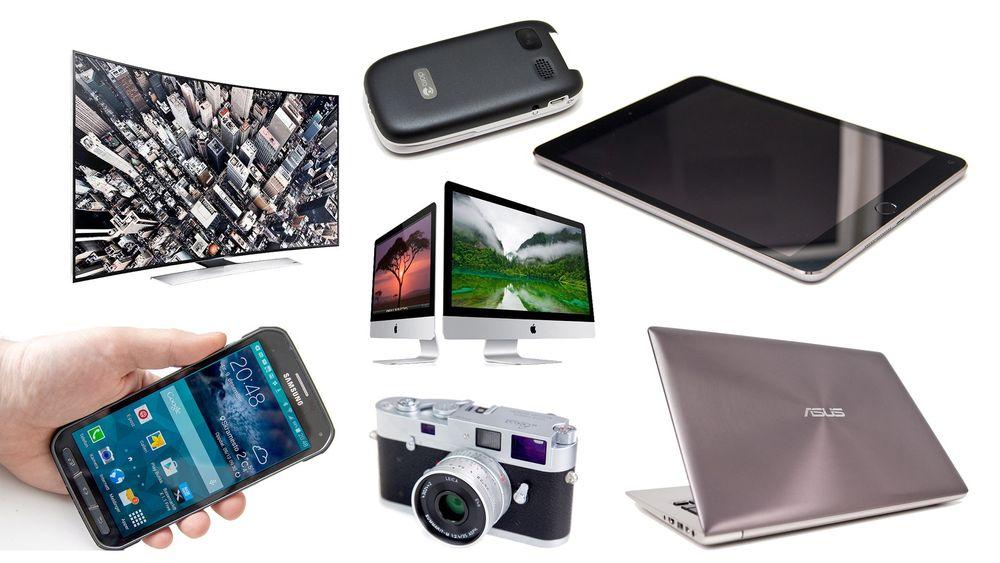 Sju produktgrupper står for nærmere 80 prosent av omsetningen i markedet for forbrukerelektronikk.