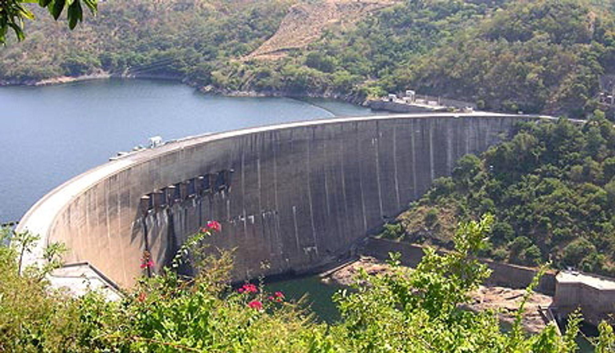 Kariba-dammen i Zimbabwe.