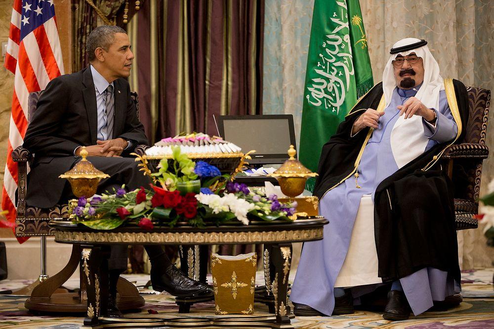 Møte: USAs president Barack Obama møtte her avdøde kong Abdullah i mars 2014. Saudi-Arabia er en viktig alliert av amerikanerne.