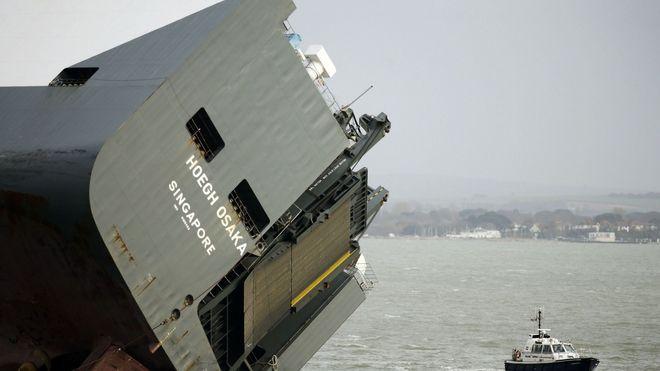 Slepte Höegh-skipet tre kilometer