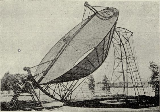 Solmaskinen i Pasadena var banebrytende i sin tid, og ga strøm til pumpen til vanningsanlegget i de tørre ørkenområdene i California.
