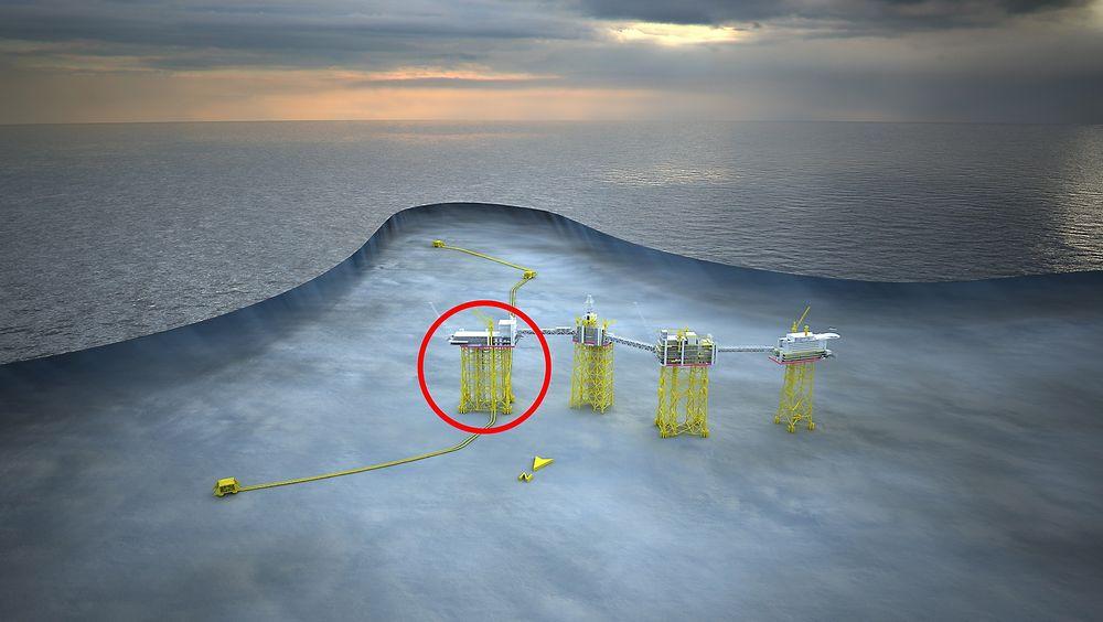 Kværner skal bygge stålunderstellet til stigerørsplattformen på Johan Sverdrup-feltet.