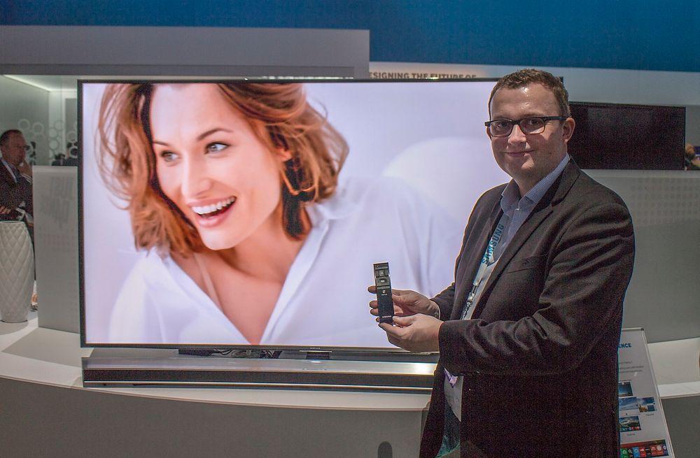 Kommer snart: Produktsjef for TV i Samsung, Knut Rørnes, lover at den nye SUHD-TV-ene, de vil si de som har HDR, kommer til våren. De får også Samsungs sterkt forbedrede smart-TV.