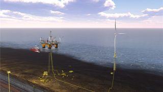 DNV GL: Nå kan det lønne seg med flytende havvind til oljeplattformer