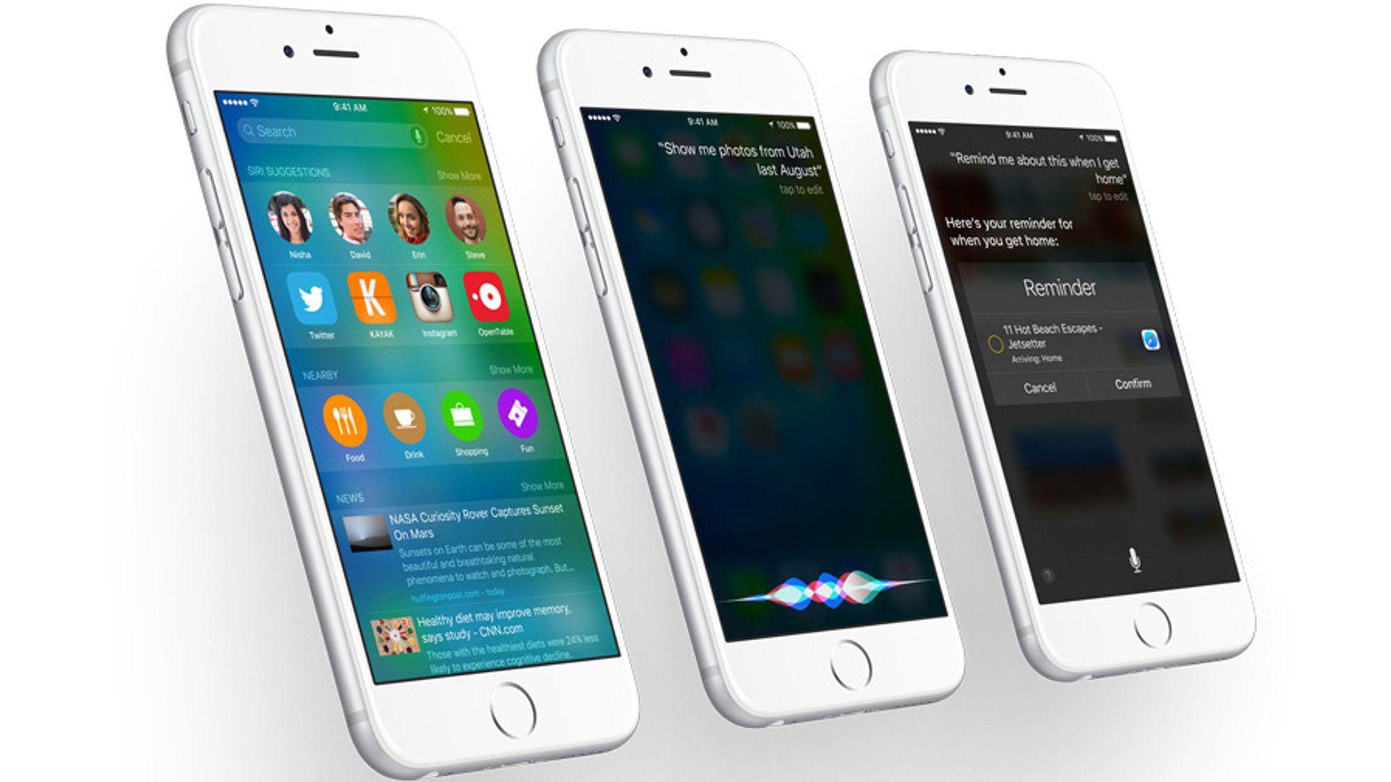 iOS 9 har mange små og store nyheter. Blant siste kategori finner vi Siri på norsk.