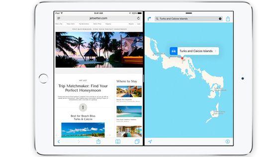 iOS 9 støtter to apper på samme tid dersom du har iPad.