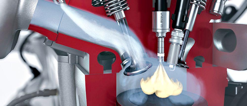 På vannvogna: Problemet med tenningsbank kan elimineres ved å sprøyte inn vann i innsugningskanalen til bensinmotoren.