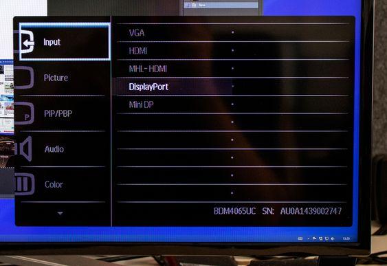 Kontrollerer: Det er flere kontollmuligheter på Philips BDM4065UC enn det som er vanlig på en skjerm,men det skyldes nok TV-arven.