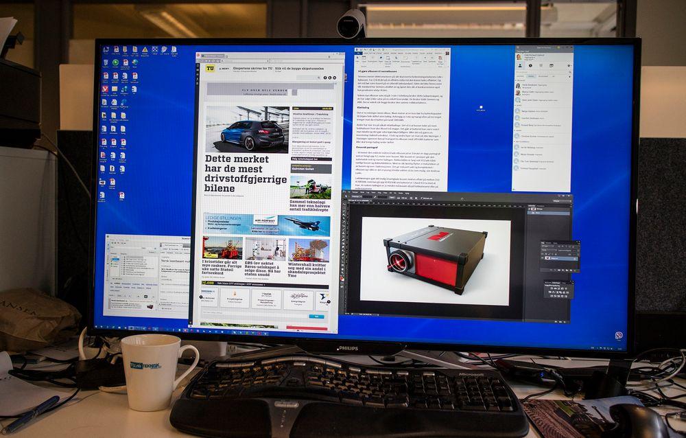 Philips nye skjerm, BDM4065UC, har plass til de fleste av de vinduene du vil ha oppe samtidig.