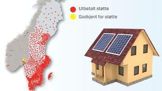 Mens svenskene står i kø for å installere solceller på taket, går det tregt i Norge