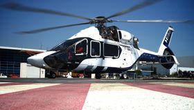 Her er den første H160-testmaskinen under bakketesting i Marignane i månedsskiftet mai/juni. Helikopteret fløy første gang 13. juni.