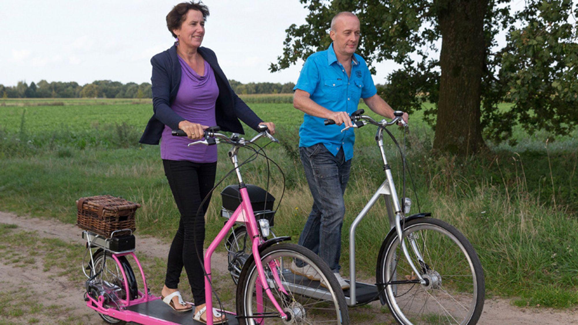 Ekteparet Bergmeester bruker tredemølle-syklene flittig på det flate nederlandske landskapet.