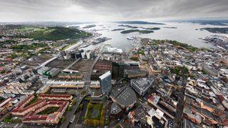 Over Oslo med supervidvinkel og 50 megapiksler