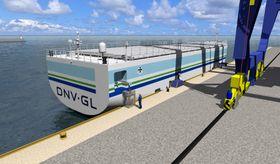 DNV GLs konsept for autonome skip, Revolt. Det blir videreført i GKP av Risavika havn.