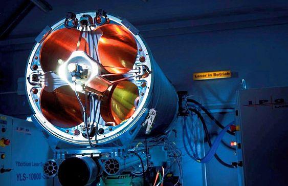 MBDA Tyskland sier de kan ha et operativt laserluftvern i løpet av fem år. Dette er deres 40 kW demonstrasjonssystem.