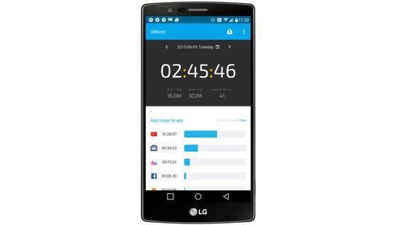 UBhind gir deg svært detaljert oversikt over hvor mye du bruker mobilen, og hva du bruker den til.