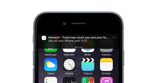 Når du har brukt mobilen for lenge, popper denne irriterende beskjeden opp helt til du legger fra deg mobilen.