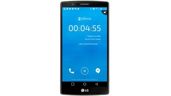 Når du er over grensen, kan appen låse telefonen for deg. Da kan du ikke gjøre annet enn å ringe og sende meldinger.