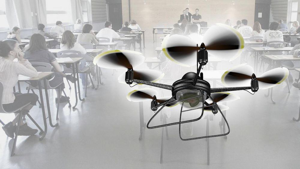 En drone som blant annet kan spore radiosignaler settes inn for å avsløre eksamensjuks i Kina.
