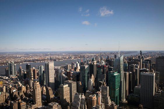 De lavtliggende områdene ved Hudson River vil ha store problemer dersom prognosene om stigning i havnivået slår inn.