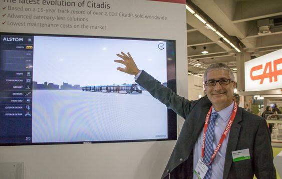 Se den trikken: Trikken har fått en teknologirenessanse og mer skal skje i årene fremover forteller Alstoms sjef for trikker Bernard Dailly til Teknisk Ukeblad.