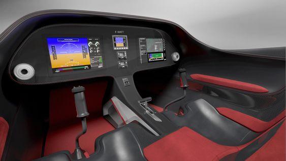 Slik blir cockpiten i den kommende E-Fan 2.0
