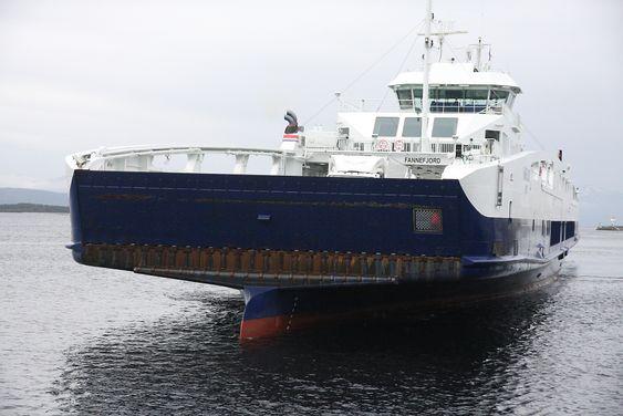 MF Fannefjord trafikkerer E39 mellom Molde og Vestnes. Den ble  i år bygget om til LNG-hybrid ved Fiskerstrand Verft.