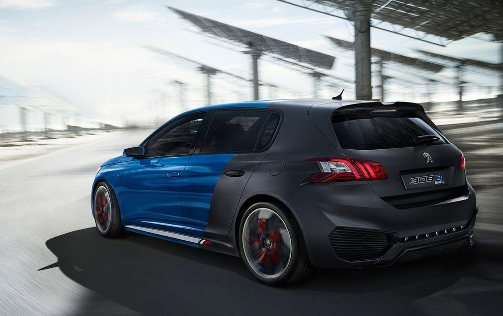 Peugeot 308 R Hybrid er et konsept med opp til 500 hk og et oppgitt utslipp på 70 g CO2/km.