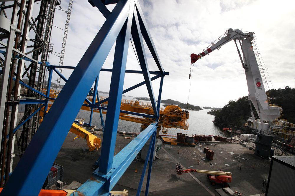Til sammen 1500 ansatte i National Oiwell Varco Norway mister jobben. Her fra selskapets anlegg i Søgne.